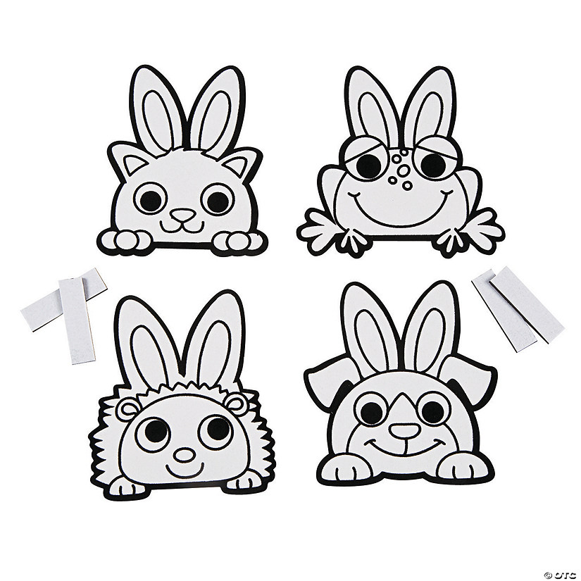 Color Your Own Fuzzy Easter Animal Magnets