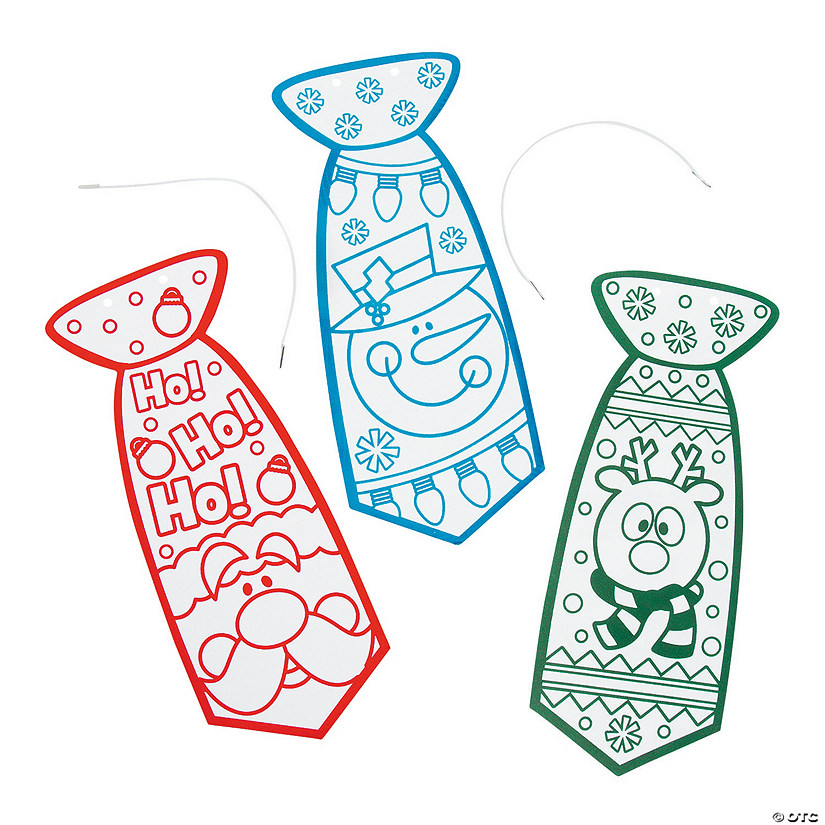 Color Your Own Fuzzy Ugly Christmas Ties