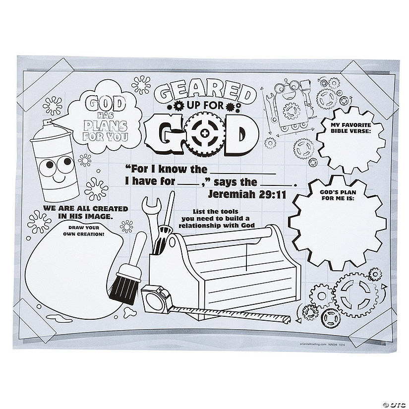 Color Your Own Geared Up for God VBS Posters