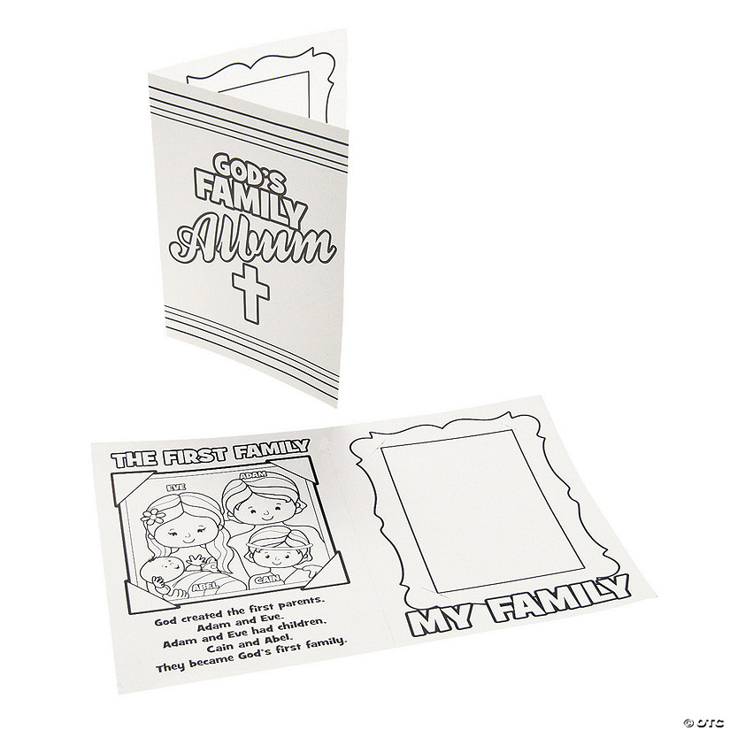 "Color Your Own ""God Created Family"" Albums"