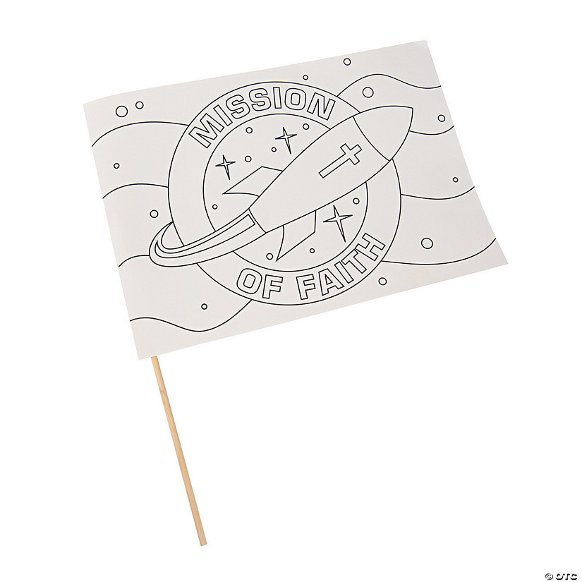 Color Your Own God's Galaxy VBS Flags