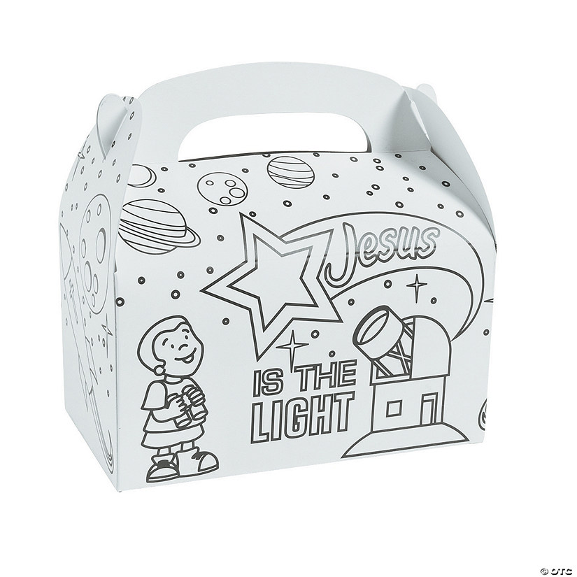 Color Your Own God's Galaxy VBS Treat Boxes