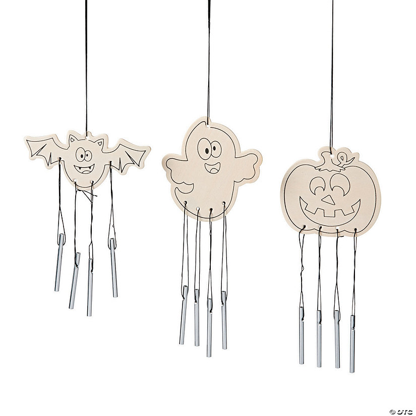 Color Your Own Halloween Wind Chimes