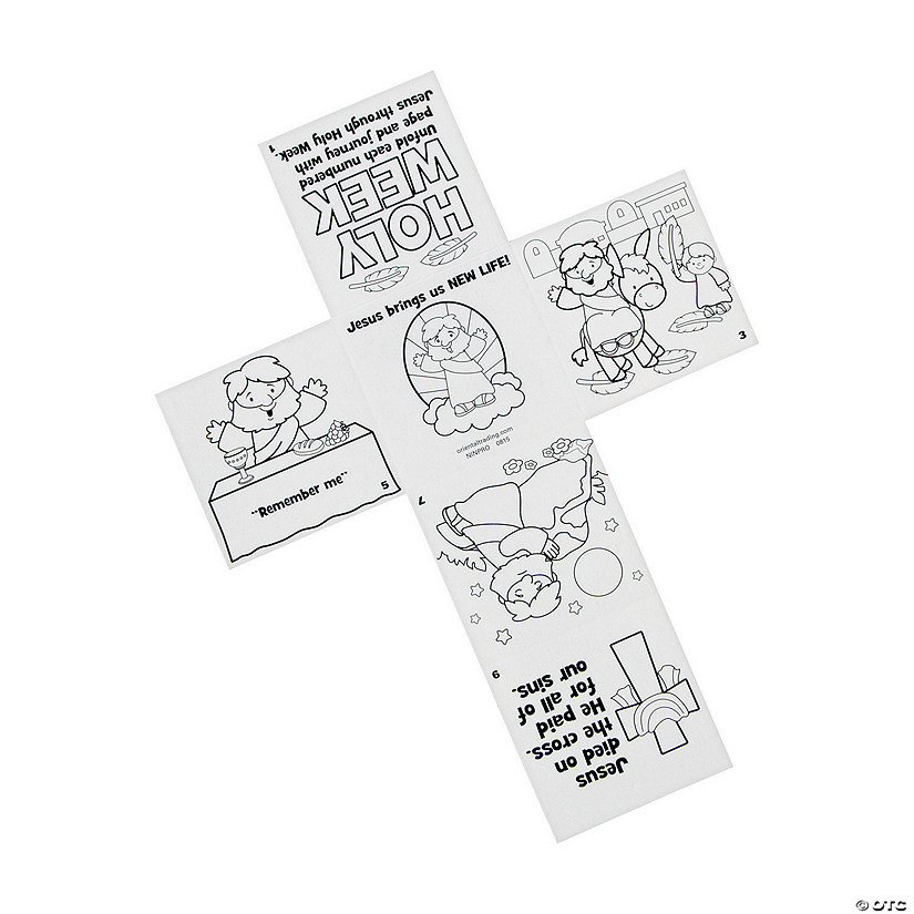 Color Your Own Holy Week Story Crosses