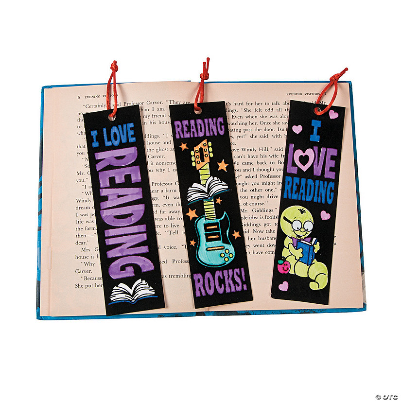 "Color Your Own ""I Love Reading"" Fuzzy Bookmarks"