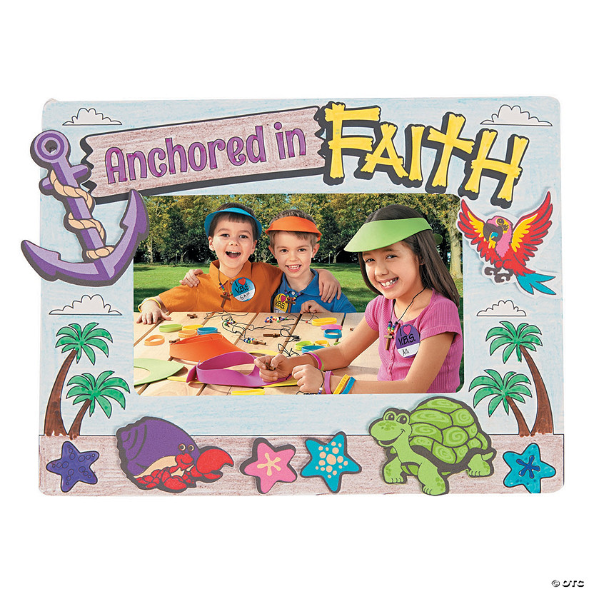 Color Your Own Island VBS Picture Frame Magnets