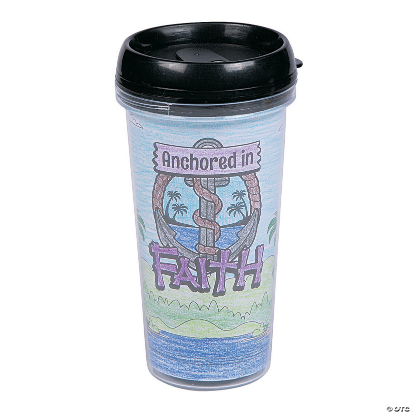 Color Your Own Island VBS Travel Mugs