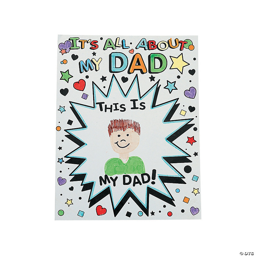 "Color Your Own ""It's All About My Dad"" Giant Father's Day Cards"