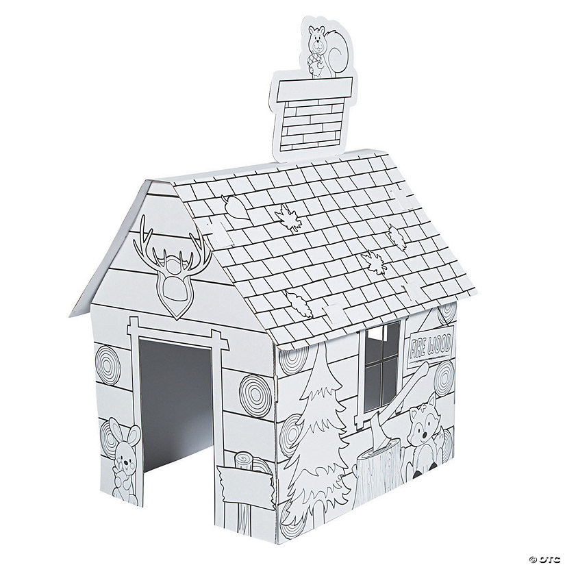 Color Your Own Log Cabin Playhouse