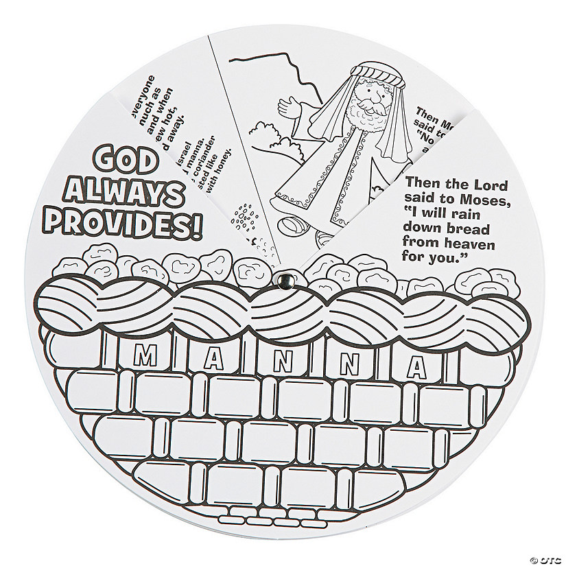 Color Your Own Religious Christmas Ornaments: Color Your Own Manna Wheels