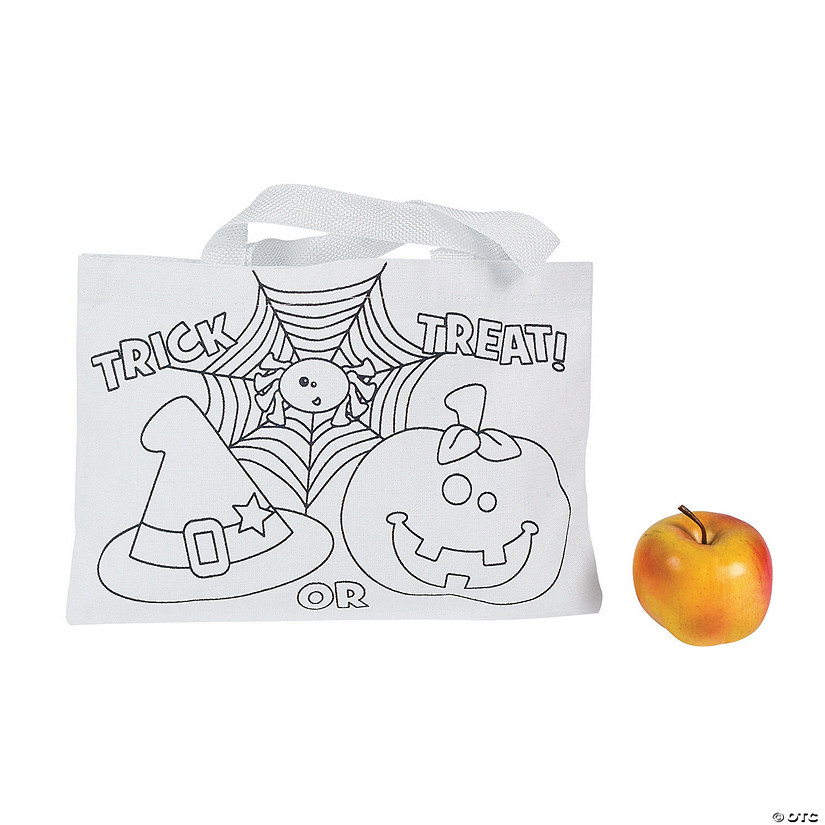 Color Your Own Medium Trick-or-Treat Tote Bags
