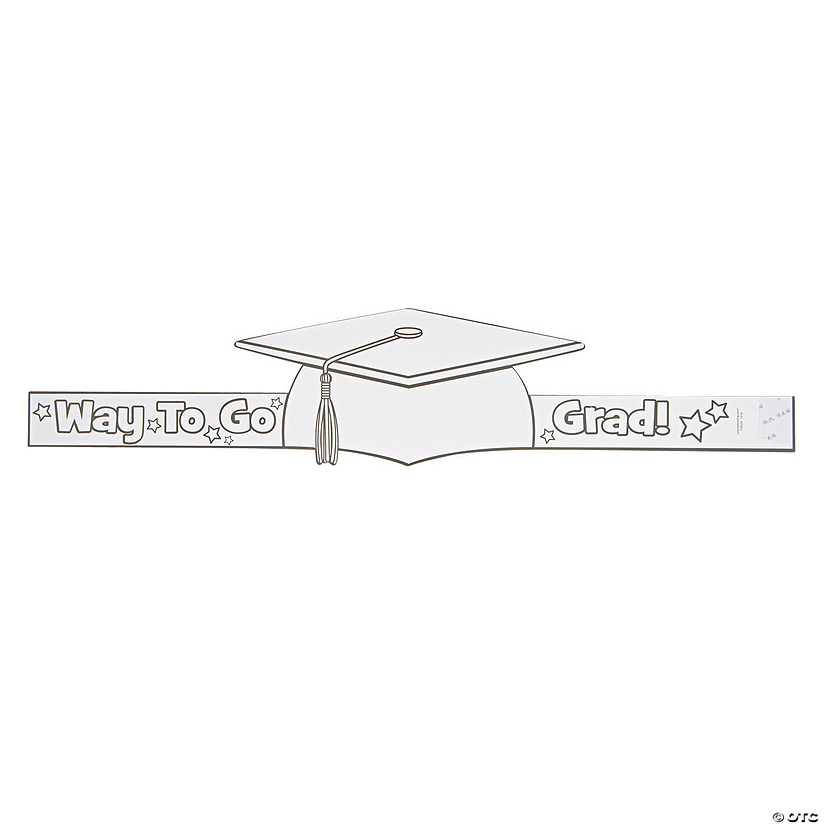 Color Your Own Mortarboard Graduation Crowns