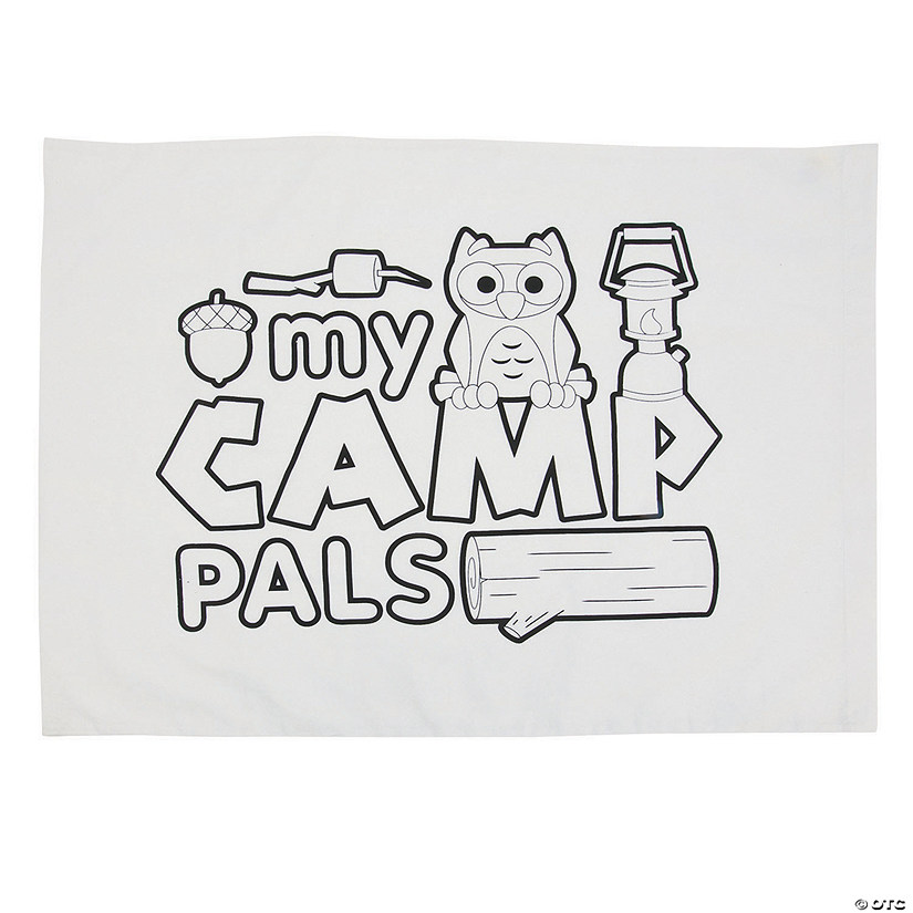 Color Your Own My Camp Pals Autograph Pillowcase