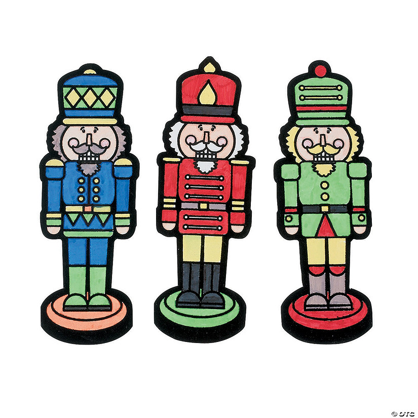 Color Your Own Religious Christmas Ornaments: Color Your Own Nutcracker Fuzzy Magnets
