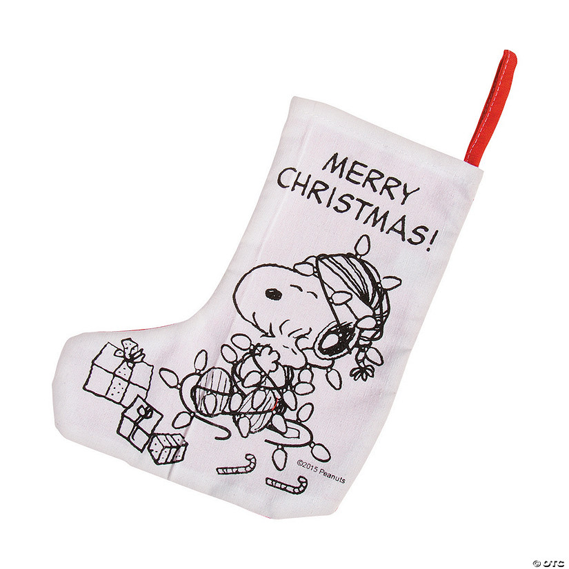 Color Your Own Peanuts® Christmas Stockings