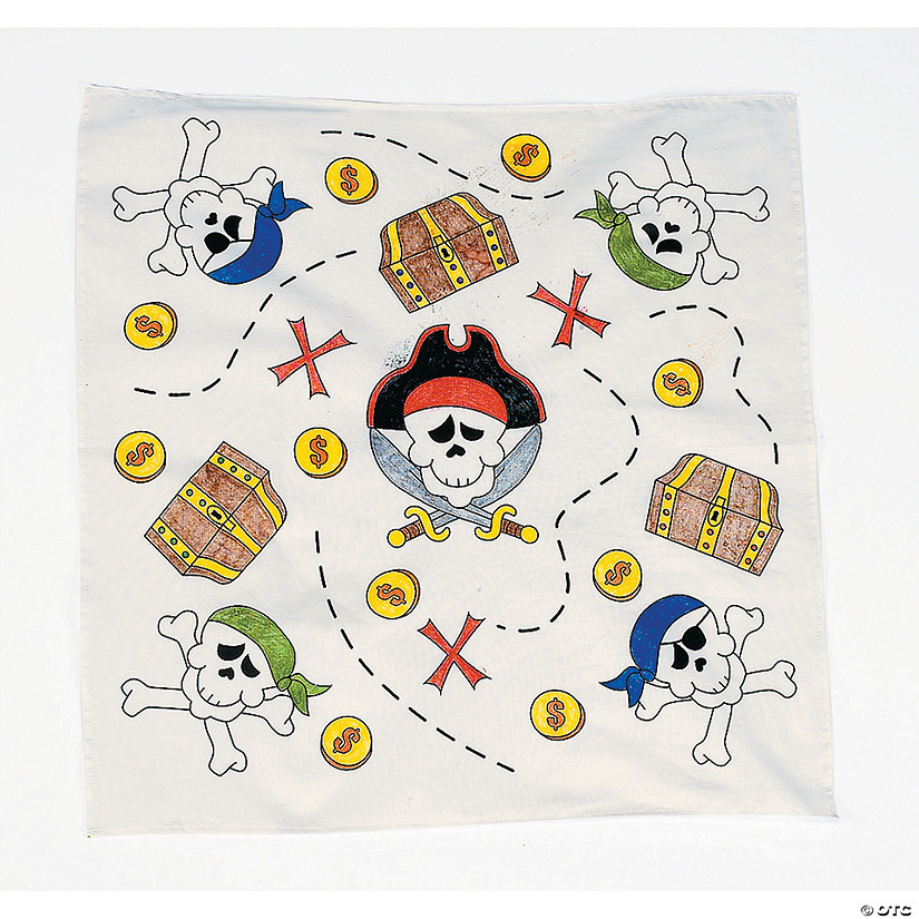 Color Your Own Pirate Bandanas