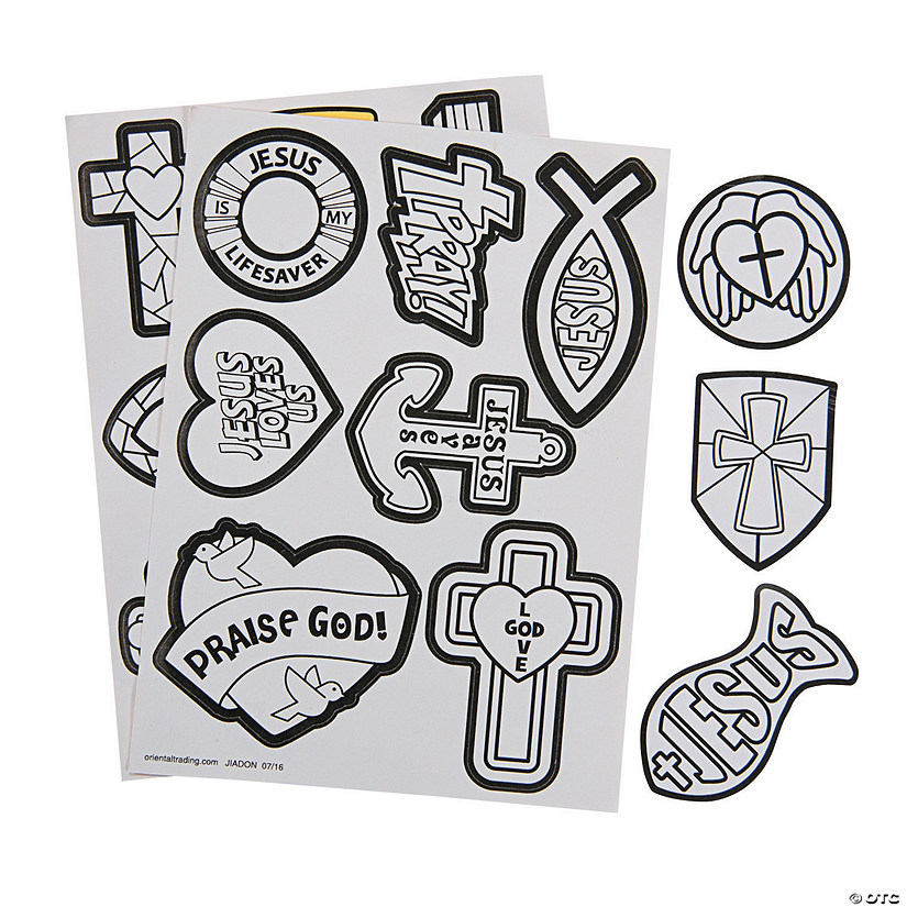 Color Your Own Religious Christmas Ornaments: Color Your Own Religious Stickers