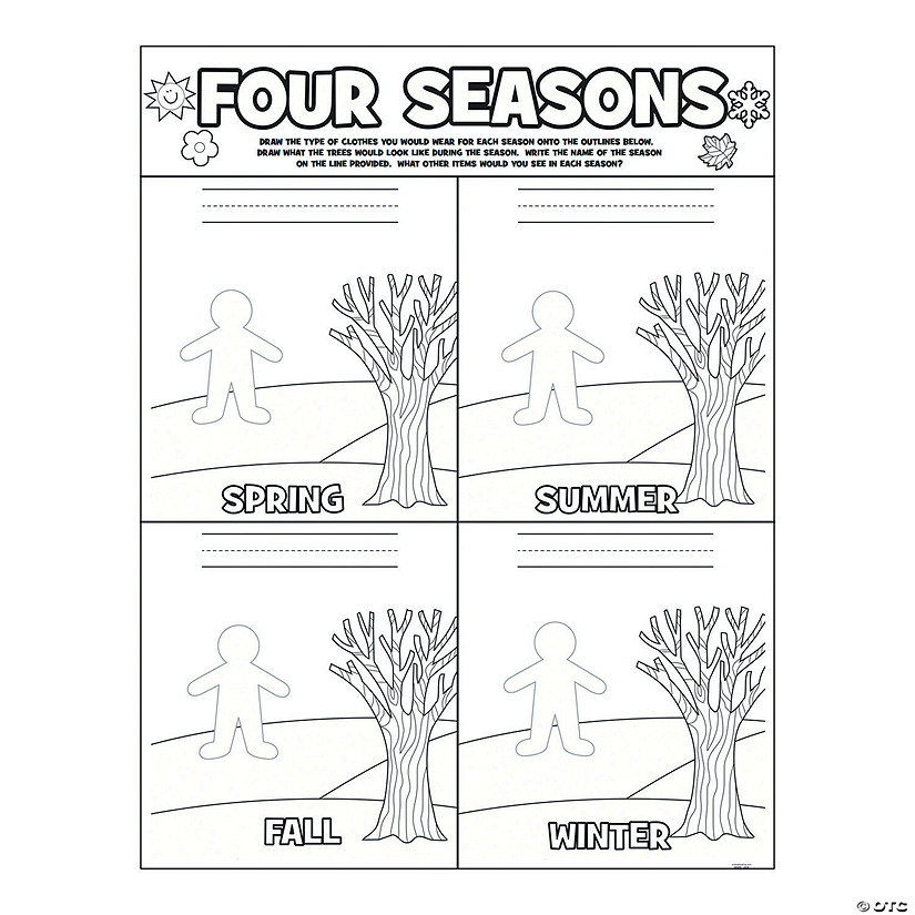 Color Your Own Season Posters