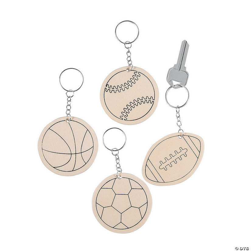 Color Your Own Sports Ball Keychains
