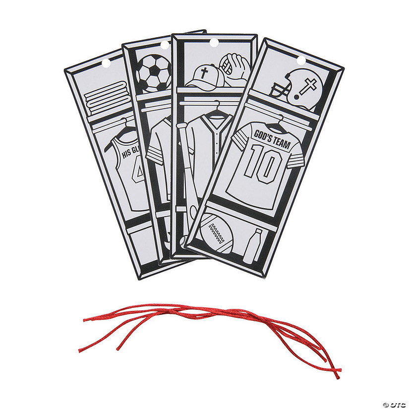 Color Your Own Sports VBS Bookmarks