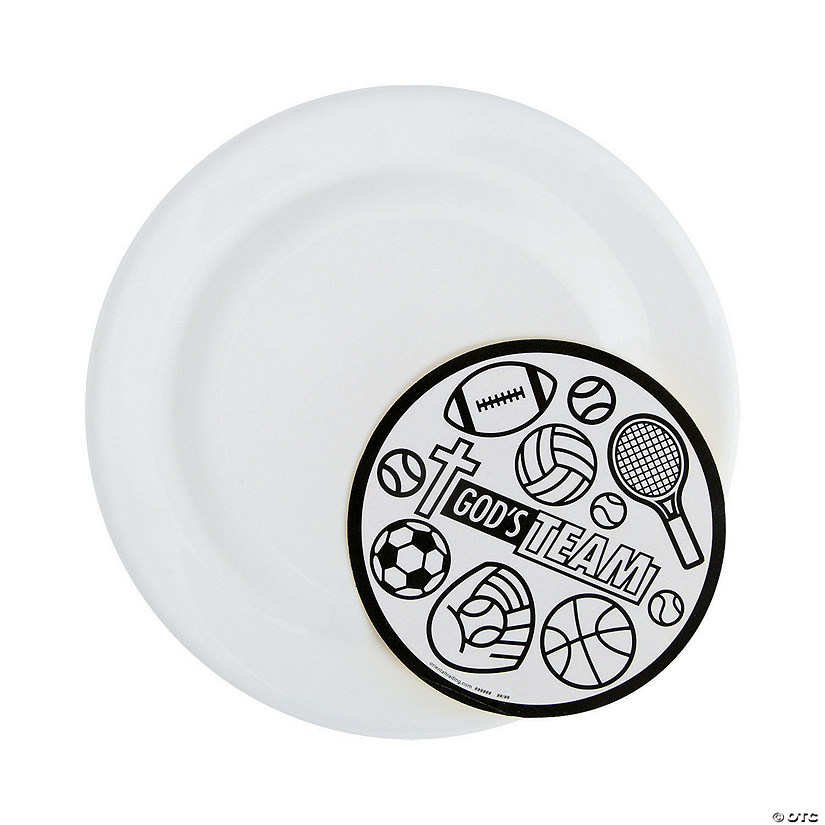 Color Your Own Sports VBS Flying Discs