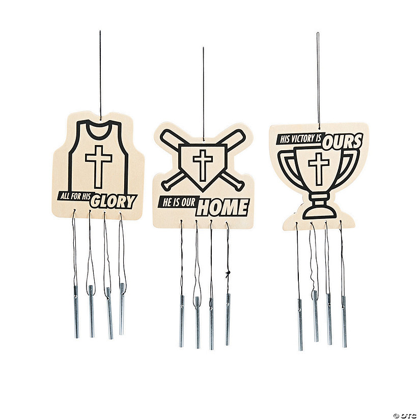 Color Your Own Sports VBS Wind Chimes