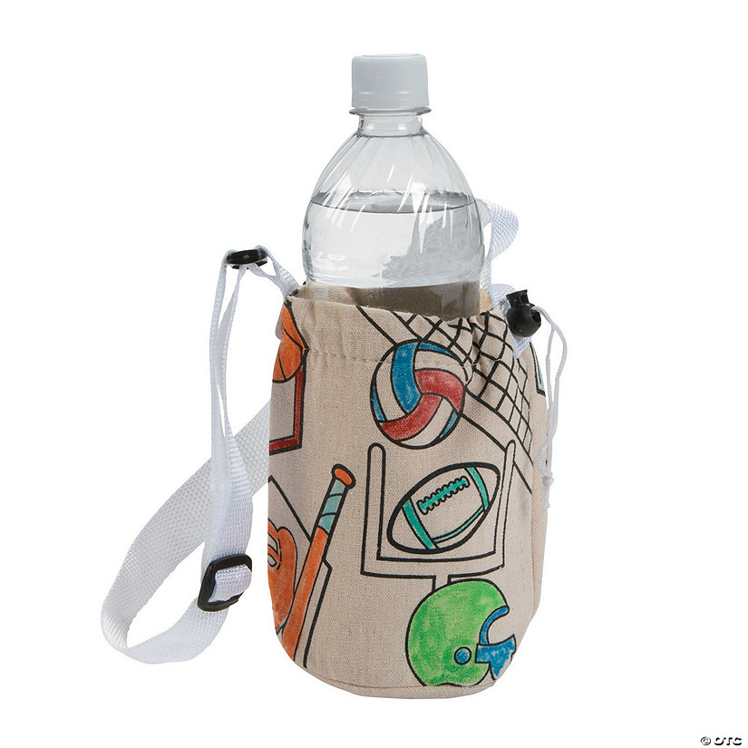 Color Your Own Sports Water Bottle Holders