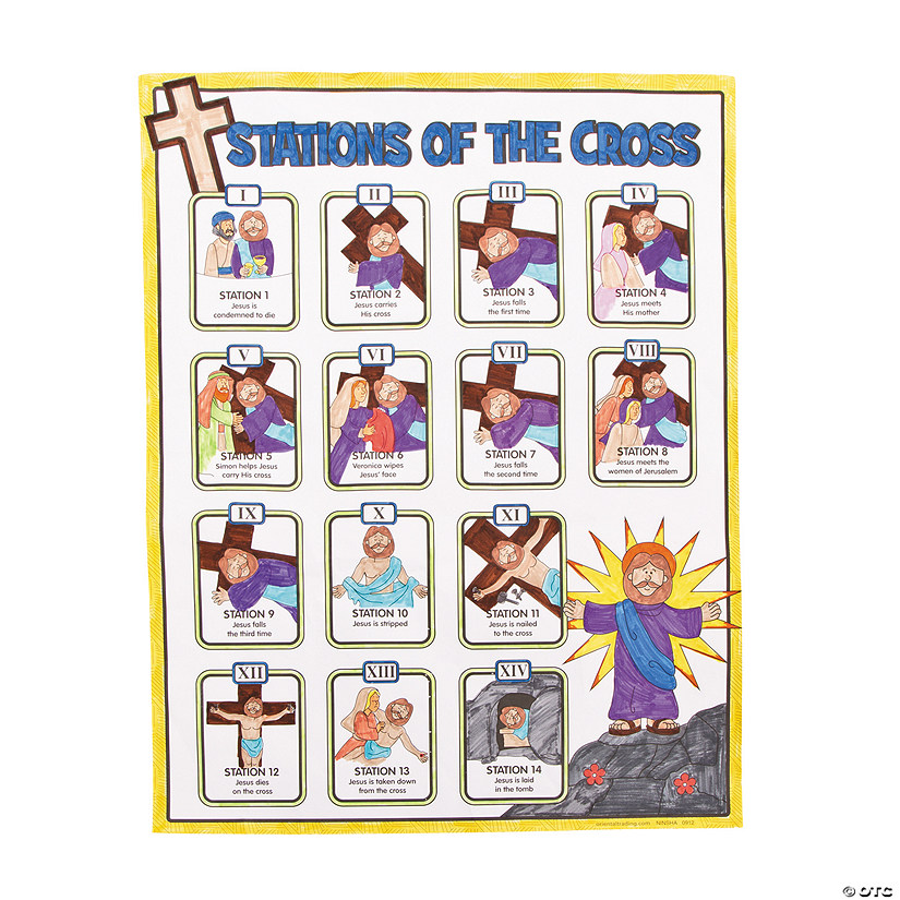 Color Your Own Religious Christmas Ornaments: Color Your Own Stations Of The Cross Posters