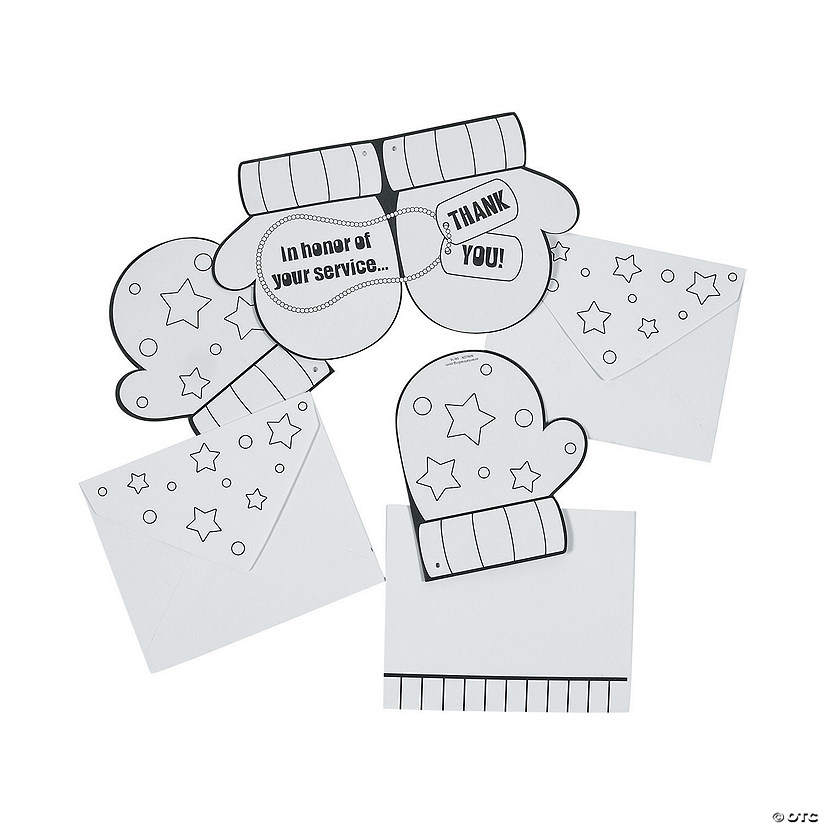 Color Your Own Thank You Card Ornaments