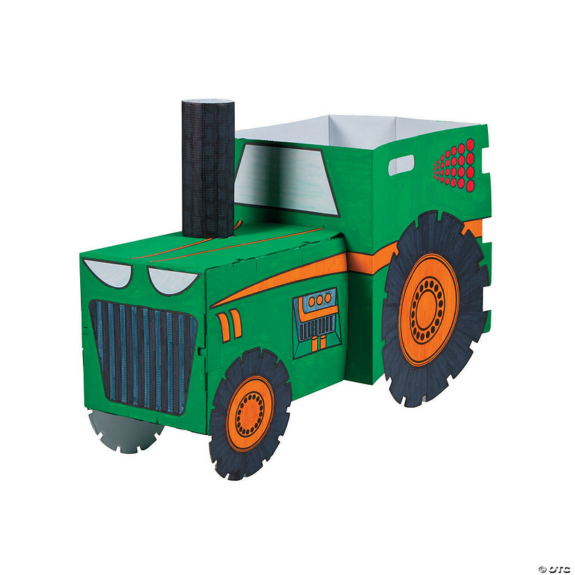 Color Your Own Tractor Box Costume