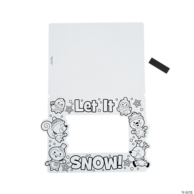 Color Your Own Winter Picture Frame Magnets