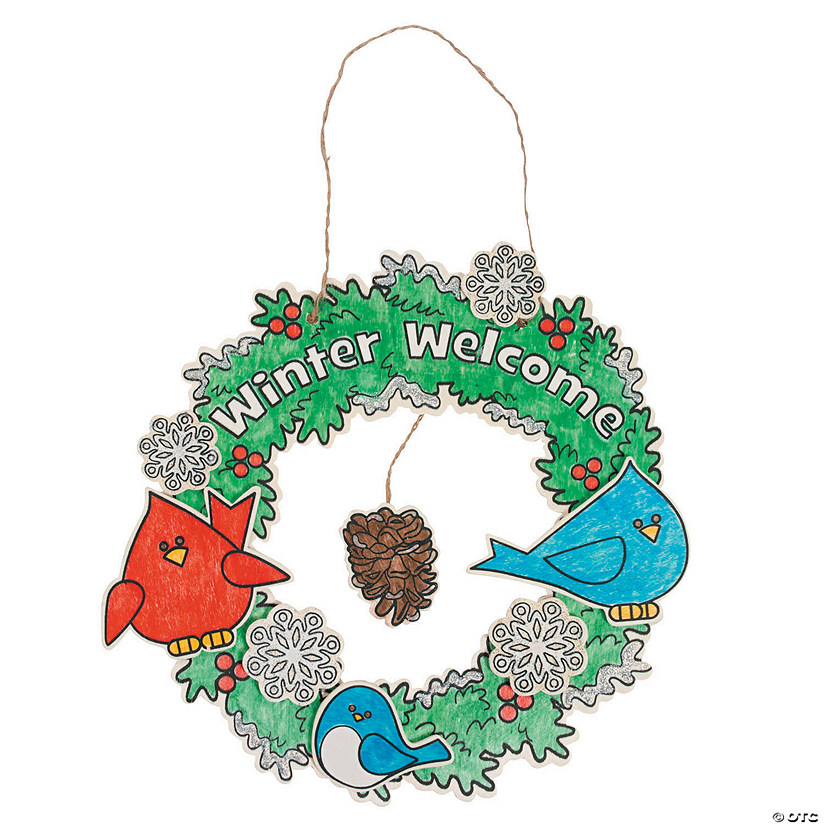 Color Your Own Winter Welcome Wreaths