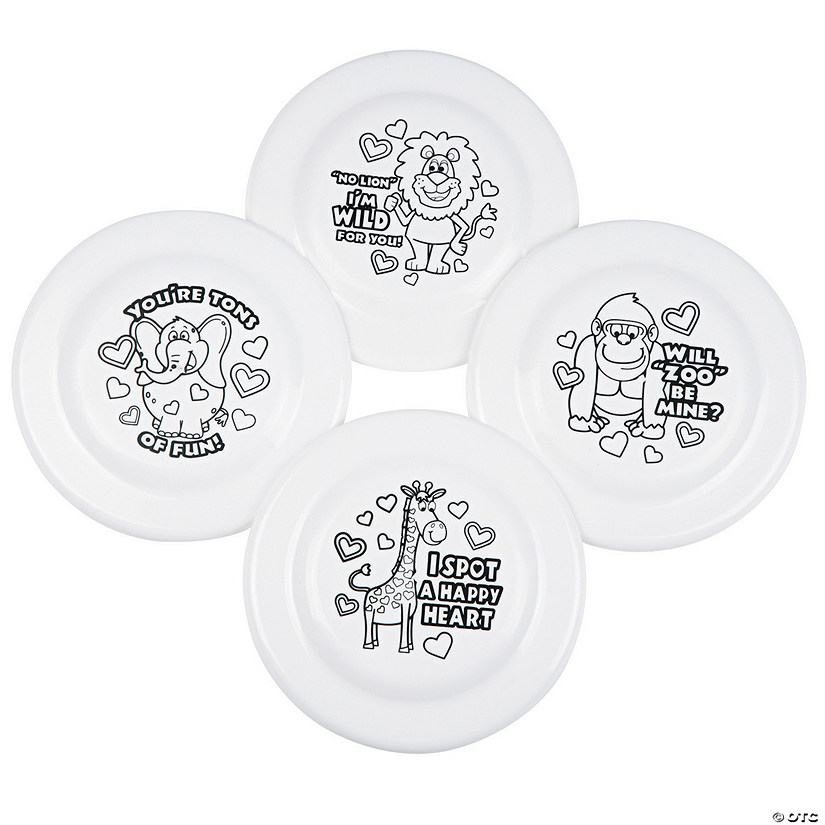 Color Your Own Zoo Animal Flying Discs