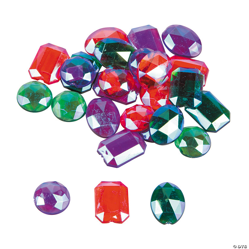 Colored Iridescent Self-Adhesive Jewels