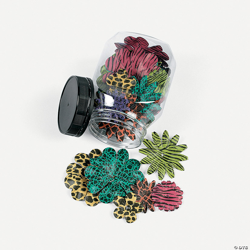 colorful animal print paper flowers discontinued