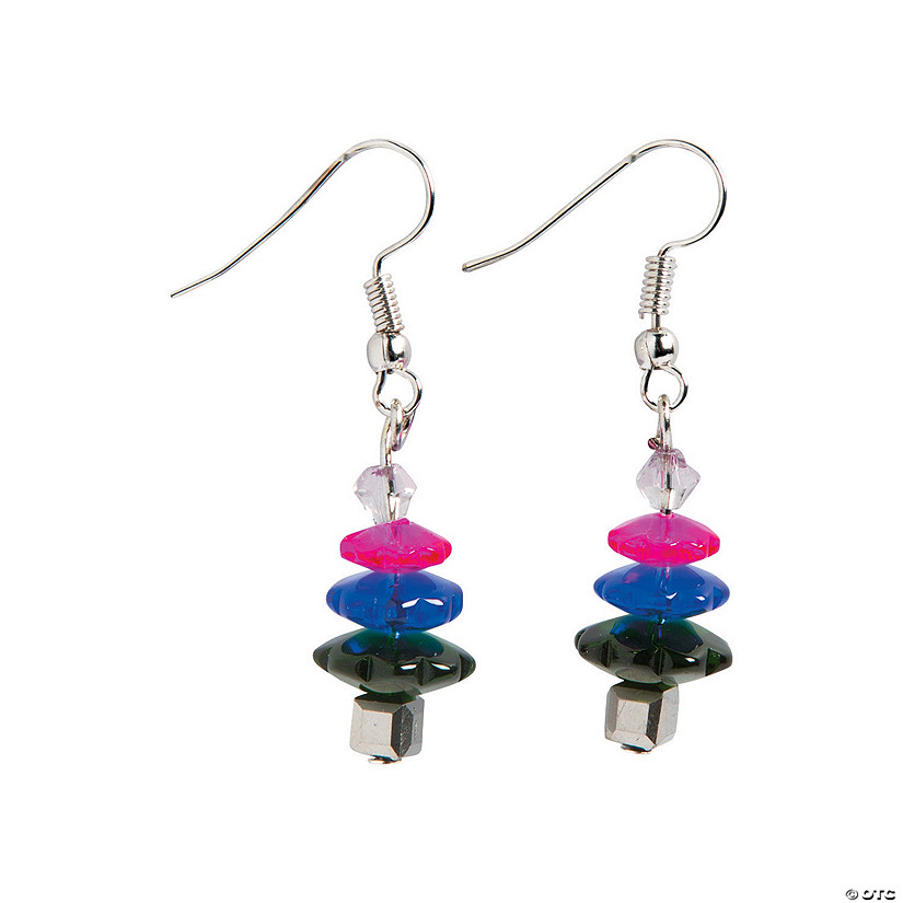 Colorful Christmas Tree Earrings Craft Kit