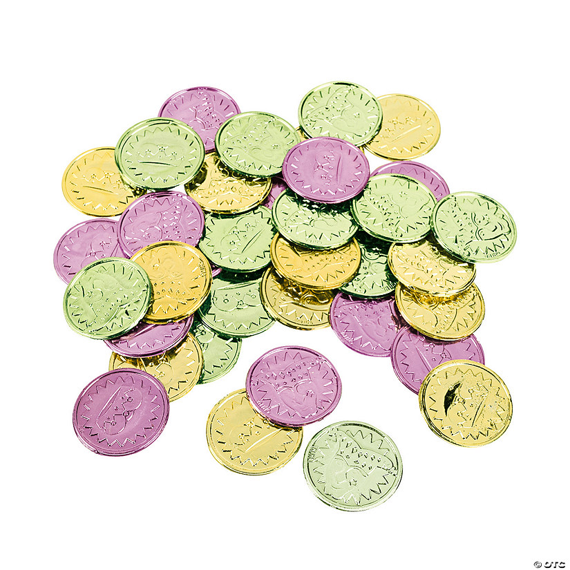 Colorful Mardi Gras Coins