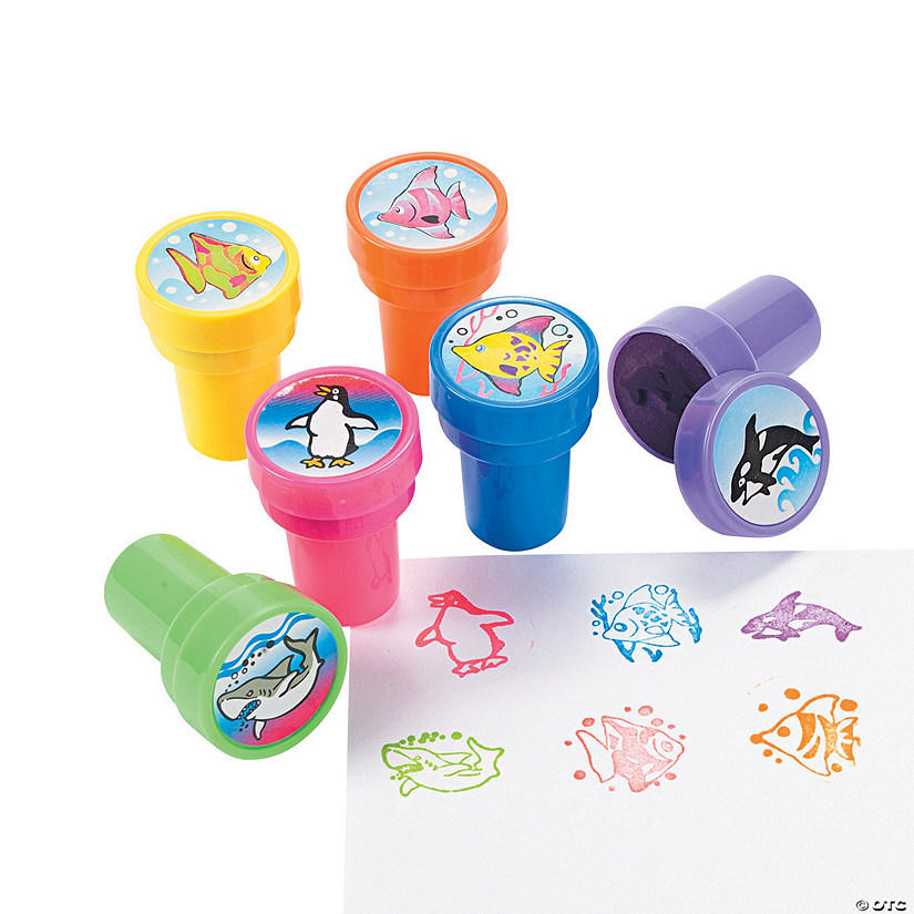 Colorful Ocean Life Stampers