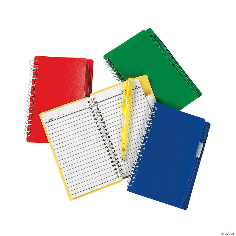 Colorful Spiral Notebooks with Pens