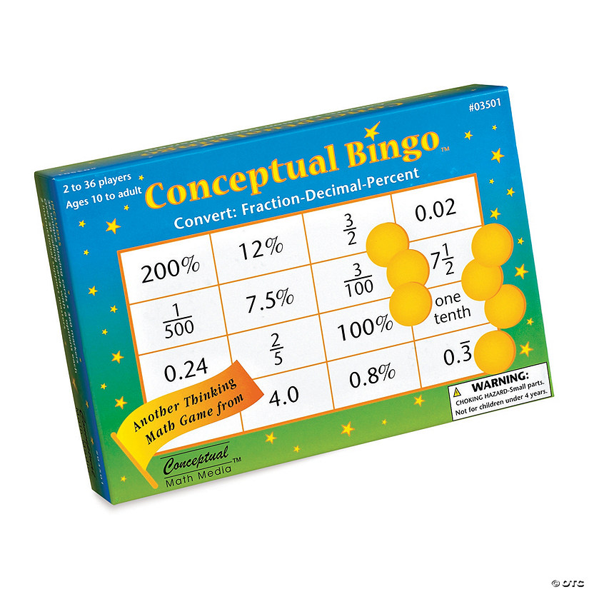 Conceptual Bingo: Convert Fractions, Decimals and Percents