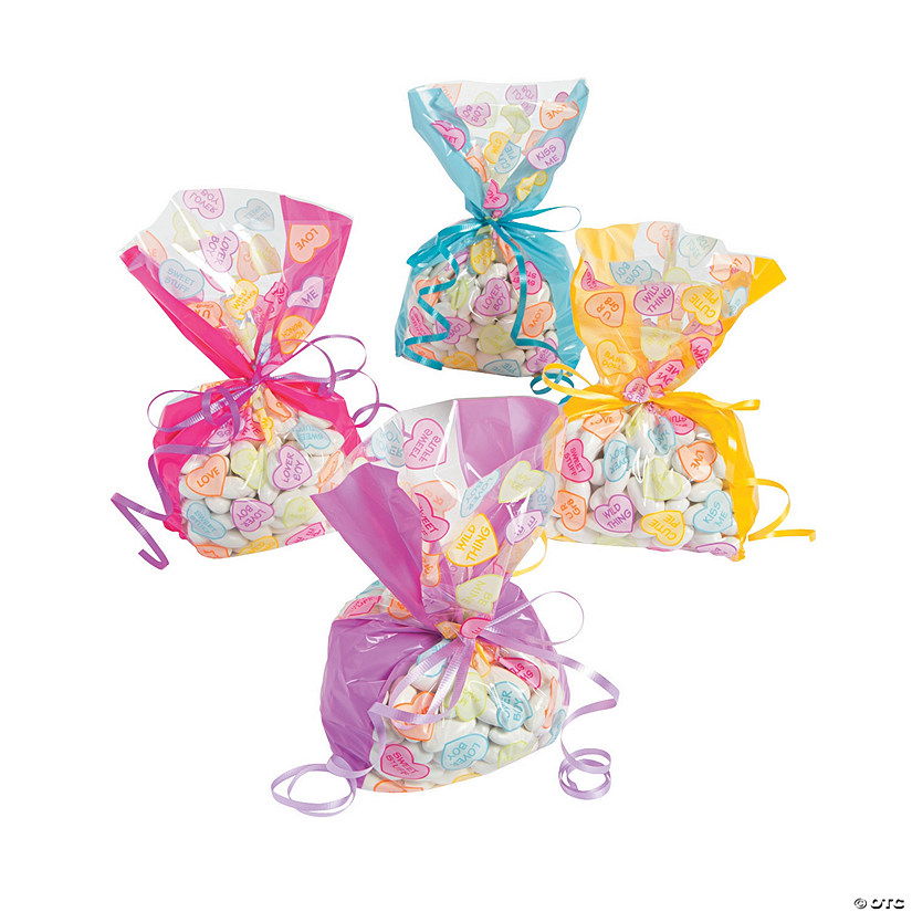 Conversation Heart Cellophane Bags