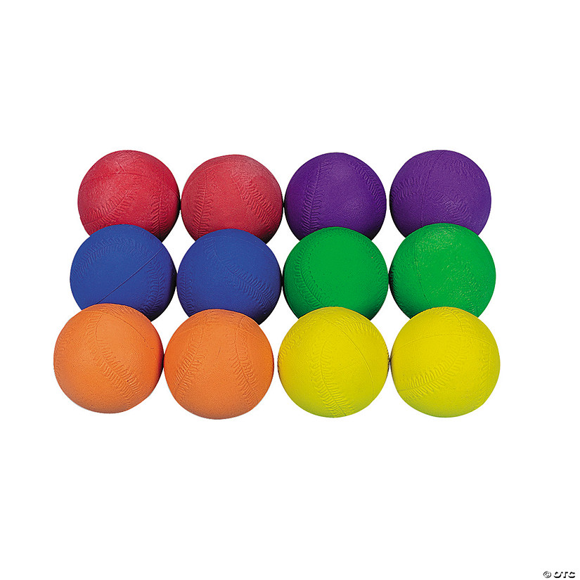 Cool & Colorful Rubber Baseball Assortment