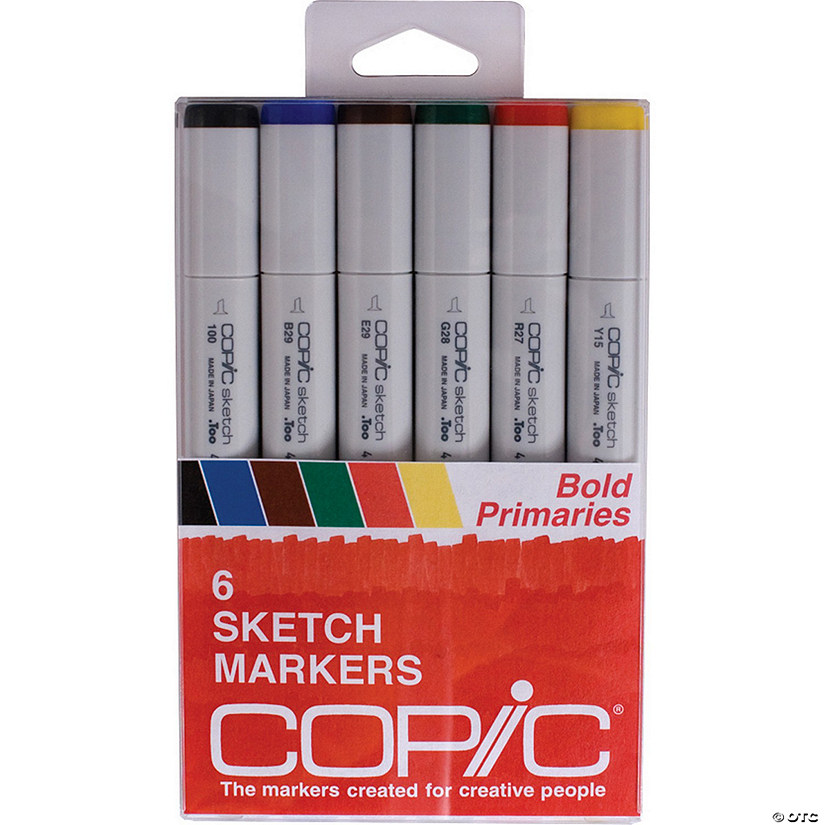 Copic Sketch Markers 6 Bold Primaries