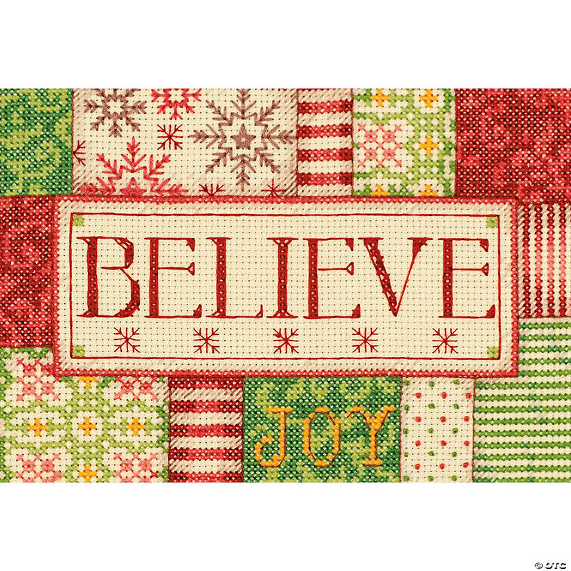 "Counted X-Stitch Kit 7""X5""-Believe"