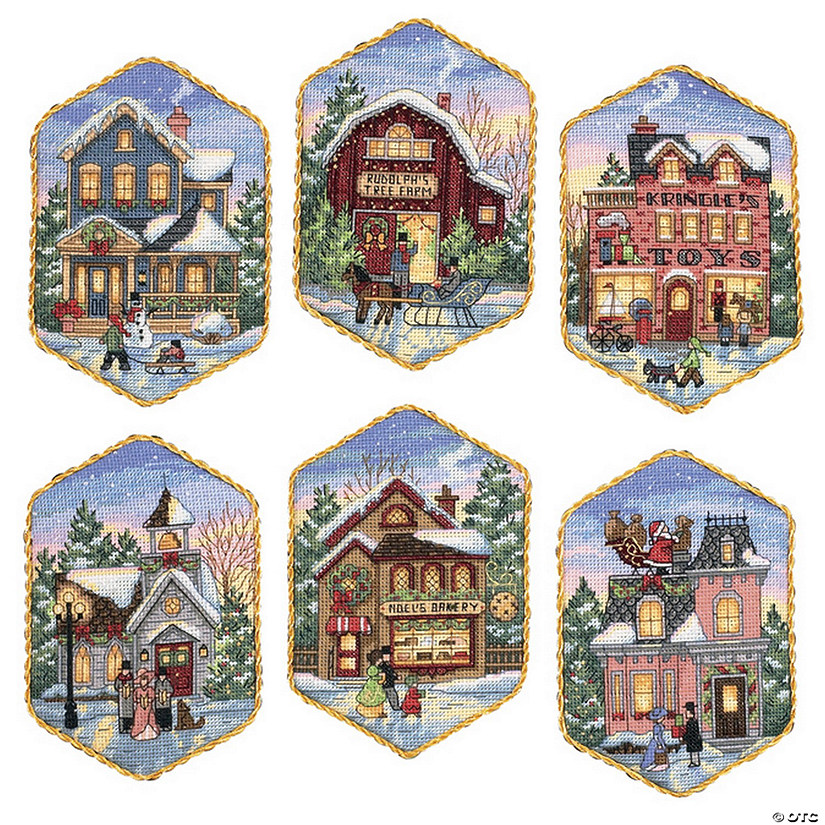 Counted Xstitch Kit-Christmas Village