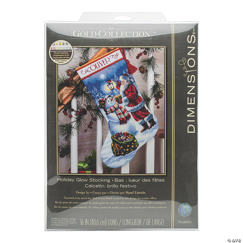 Counted Xstitch Kit-Holiday Glowstocking