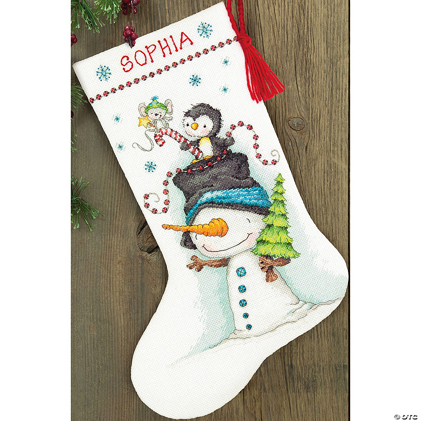 Counted Xstitch Kit-Jolly Trio Stocking
