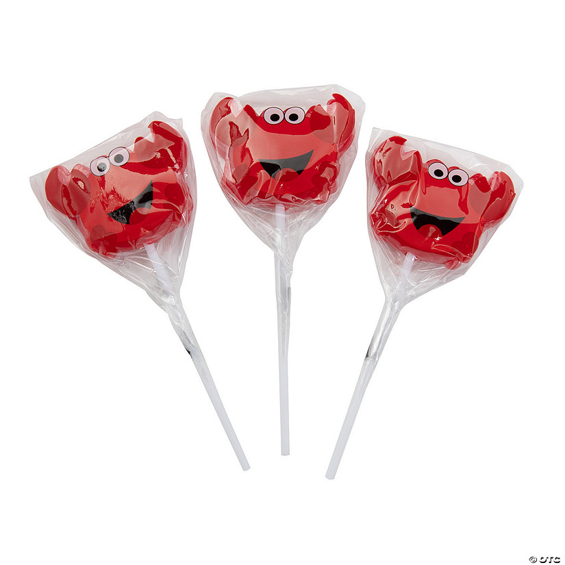 Crab Character Lollipops
