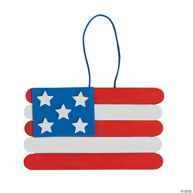 Craft Stick American Flag Banner Craft Kit