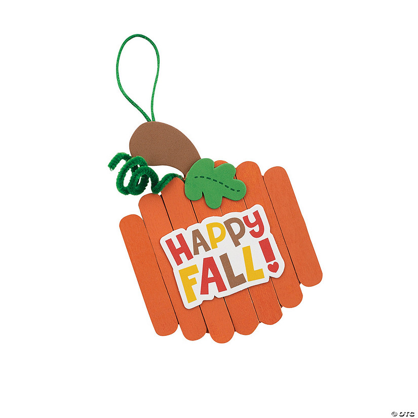 Craft Stick Fall Pumpkin Ornament